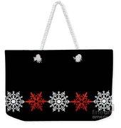 Snowflakes In A Row Weekender Tote Bag