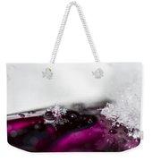 Snowflakes On Magenta Weekender Tote Bag
