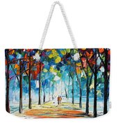 Snowing Alley Weekender Tote Bag