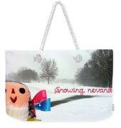 Snowing Nevando Weekender Tote Bag