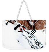 Snowing On The Bicycle Weekender Tote Bag
