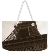 Snowing On The Eiffel Tower Weekender Tote Bag