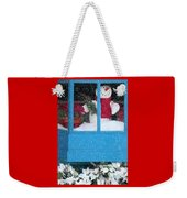 Snowman And Poinsettias - Frosty Christmas Weekender Tote Bag