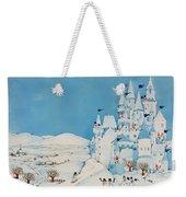 Snowman Castle Weekender Tote Bag