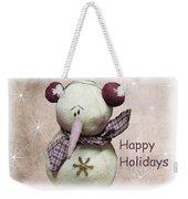 Snowman Greeting Card Weekender Tote Bag