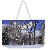 Snowman In Central Park Nyc Weekender Tote Bag