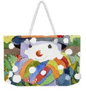 Snowman In Snow Weekender Tote Bag