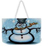 Snowman Weekender Tote Bag