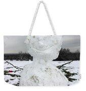 Snowman On Epsom Downs Surrey Uk Weekender Tote Bag