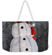 Snowman On The Roof Weekender Tote Bag