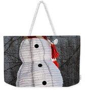 Snowman On The Roof Weekender Tote Bag
