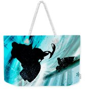 Snowmobiling On Icy Trails Weekender Tote Bag