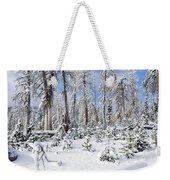 Snowscape Weekender Tote Bag