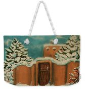 Snowstorm In Santa Fe Weekender Tote Bag