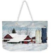 Snowstorm Weekender Tote Bag