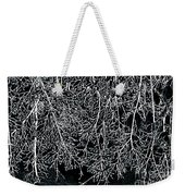 Snowy Abstract Weekender Tote Bag