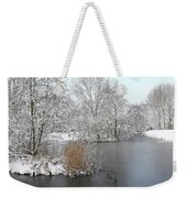 Chilled Scenery Around Frozen Canals Weekender Tote Bag