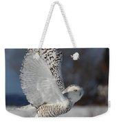 Snowy Angel Weekender Tote Bag