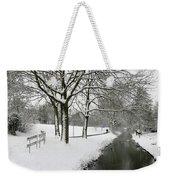 Walking On A Snowy Area Weekender Tote Bag
