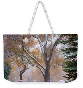 Snowy Autumn Landscape Weekender Tote Bag by James BO  Insogna