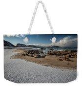 Snowy Beach Weekender Tote Bag
