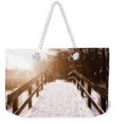 Snowy Bridge Weekender Tote Bag by Wim Lanclus
