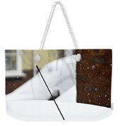 Snowy Car Aerial Weekender Tote Bag
