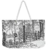 Snowy Cattle Gate Weekender Tote Bag