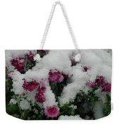 Snowy Chrysanthemums Weekender Tote Bag