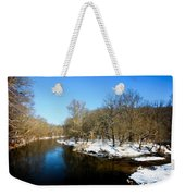 Snowy Creek Morning Weekender Tote Bag
