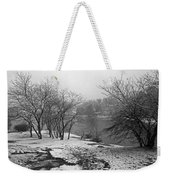 Snowy Day On Redd's Pond And Old Burial Hill Weekender Tote Bag