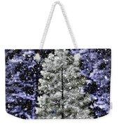 Snowy Day Pine Tree Weekender Tote Bag