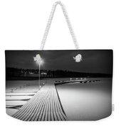 Snowy Dock Weekender Tote Bag