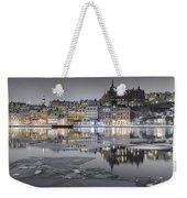 Snowy, Dreamy Reflection In Stockholm Weekender Tote Bag