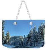 Snowy Drive Weekender Tote Bag