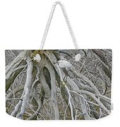 Snowy Egret - Egretta Thula - On Marsh Tangle Weekender Tote Bag