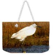 Snowy Egret 1 Weekender Tote Bag