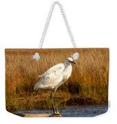 Snowy Egret 3 Weekender Tote Bag