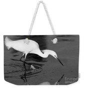 Snowy Egret Fishing Weekender Tote Bag