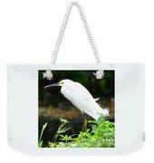 Snowy Egret In The Everglades Weekender Tote Bag