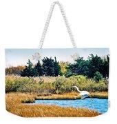 Snowy Egret-island Beach State Park N.j. Weekender Tote Bag