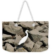 Snowy Egret On The Rocks Weekender Tote Bag