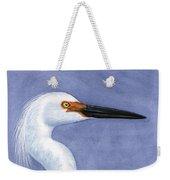 Snowy Egret Portrait Weekender Tote Bag