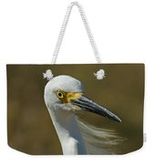 Snowy Egret Profile 2 Weekender Tote Bag