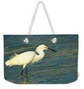 Snowy Egret Weekender Tote Bag