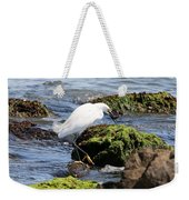 Snowy Egret  Series 2  2 Of 3  Preparing Weekender Tote Bag