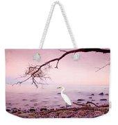 Snowy Egret Solitude Weekender Tote Bag