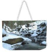 Snowy Falls Weekender Tote Bag