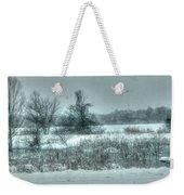 Snowy Field Weekender Tote Bag
