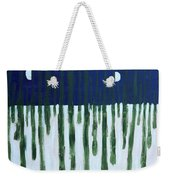 Snowy Forest At Midnight Weekender Tote Bag